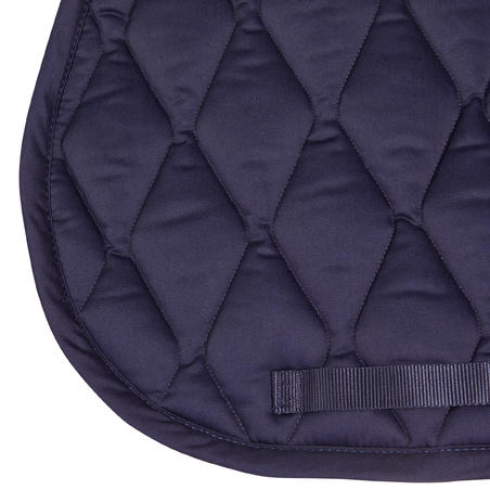 Horse and Pony Riding Saddle Pad - Navy and Rhinestone