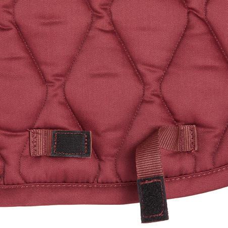 Horse & Pony Saddle Cloth 100 - Burgundy Rhinestones