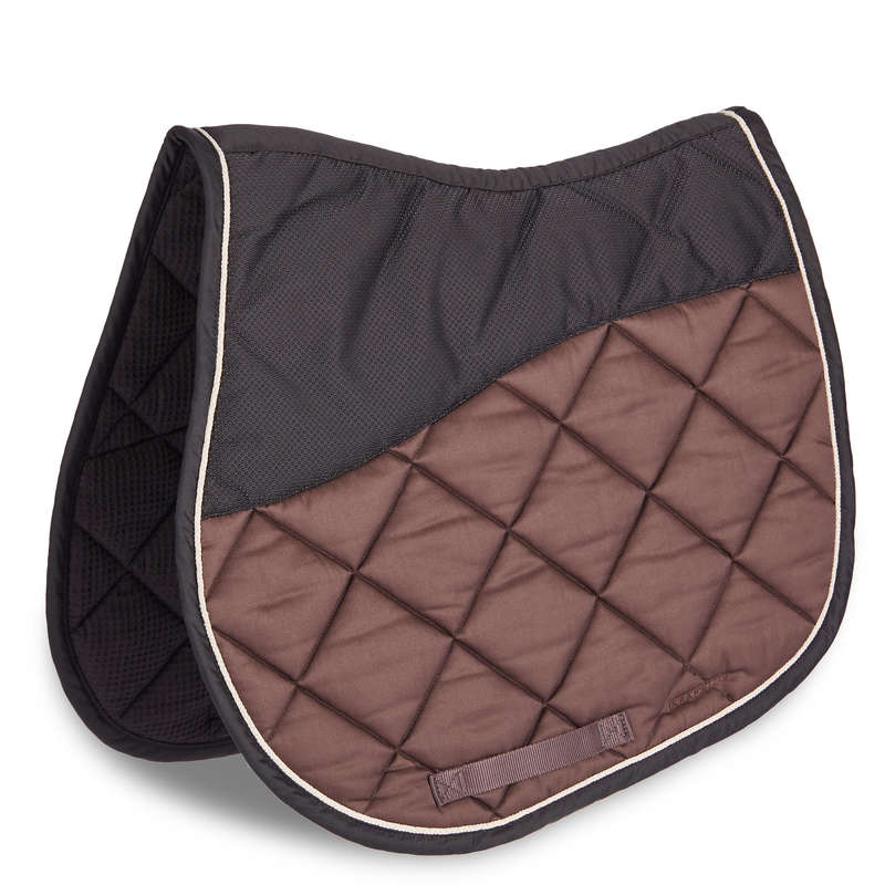 HORSE SADDLE PADS Horse Riding - 540 Saddle Cloth - Brown FOUGANZA - Saddlery and Tack