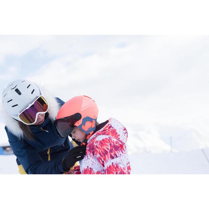 Skijacke Piste 100 warm wendbar Kleinkinder rosa
