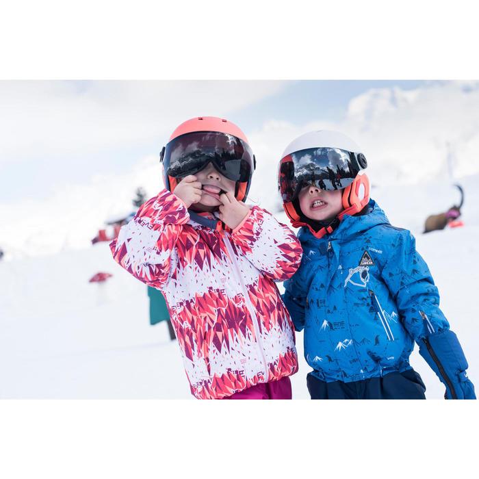 VESTE DE SKI ENFANT SKI-P JKT 100 WARM REVERSE ROSE