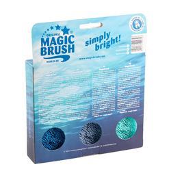 Brosses équitation MAGIC BRUSH lot de 3 brosses turquoise, mauve et bleu