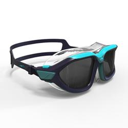 500 ACTIVE ASIA Swimming Mask, S Blue, Smoke Lenses
