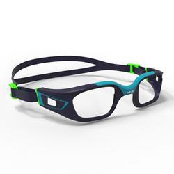 Brillengestell für Schwimmbrille 500 Selfit Gr.S blau/grün