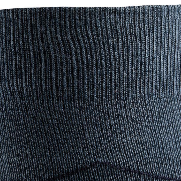 Chaussettes équitation adulte LOSANGES gris bleuté et marine