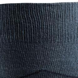 Reitsocken Erwachsene kariert graublau/marineblau