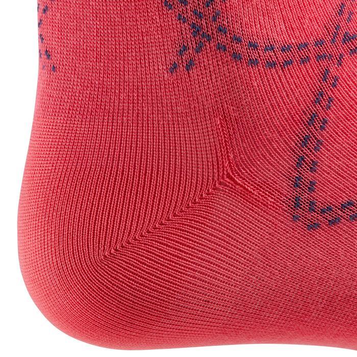 Chaussettes équitation femme 500 LIGHT rose et gris bleuté