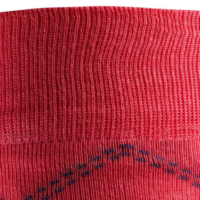Rijsokken voor dames 500 Light roze/grijs