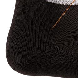 Losanges Adult Horse Riding Socks - Dark Grey/Light Grey/Camel