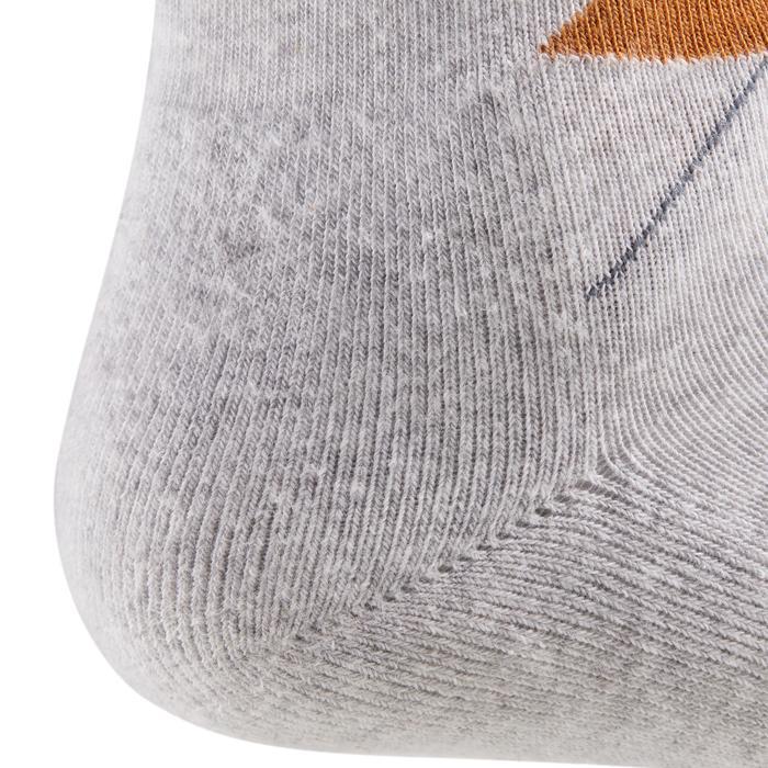 Chaussettes équitation adulte LOSANGES gris foncé et gris clair/camel
