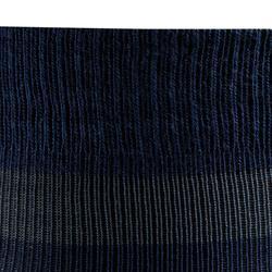 Calcetines Equitación Fouganza 100 Adulto Azul y Rallas Turquesa Talla Unica