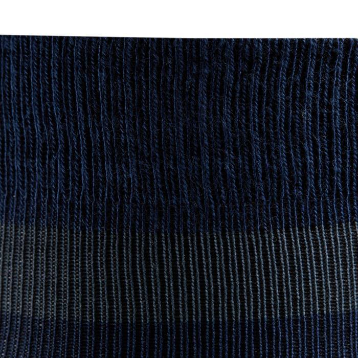 Reitsocken 100 Erwachsene Einzelpaar blau/türkis gestreift