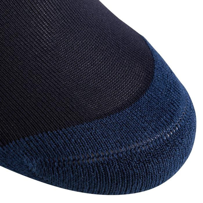 Chaussettes équitation adulte 100 marine/rayures rouges