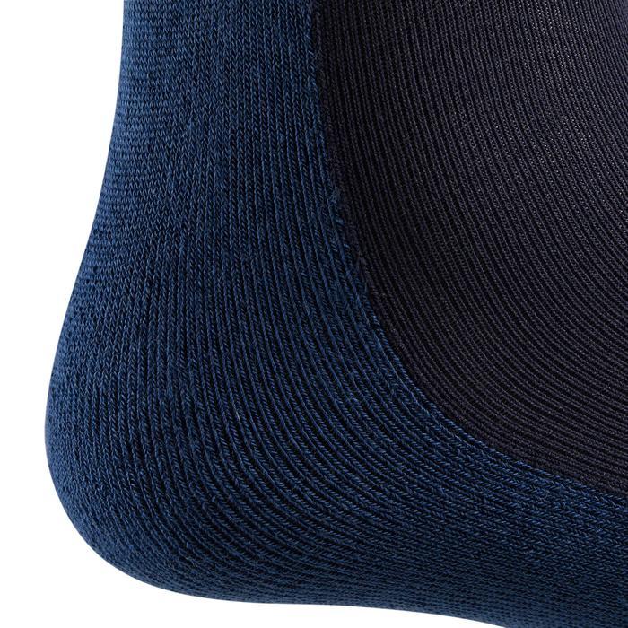 Reitsocken 100 Erwachsene marineblau/rot gestreift