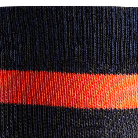 100 Adult Horse Riding Socks - Navy/Red Stripes