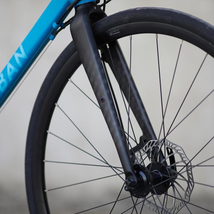 Rennrad Triban RC 500 blau (mit Scheibenbremsen)