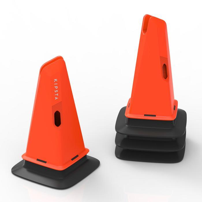 Lot de 4 bases Modular 30cm orange pour entraînement de football
