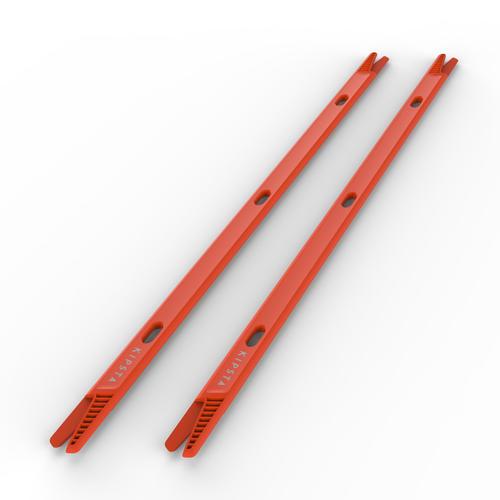 Lot de 2 jalons pour entraînement de football 90cm Modular orange