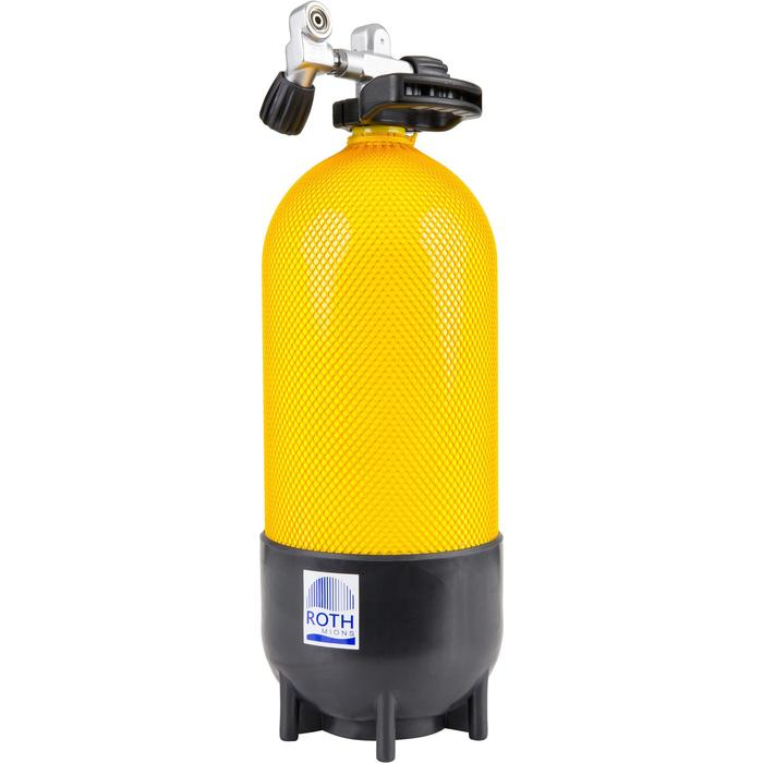 Botella Buceo Roth Mions Corta 12 L 230 Bares Amarillo Negro