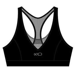 Sportbikini-Oberteil Aquafitness Lou Damen schwarz
