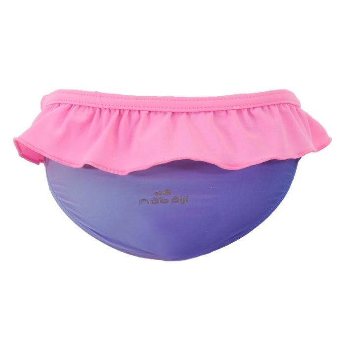 Bañador Bebe Piscina Natación Nabaiji Niña Azul/Rosa Volante