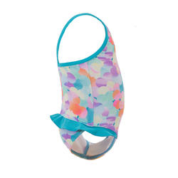 Light blue baby girl's one-piece Madina printed swimsuit