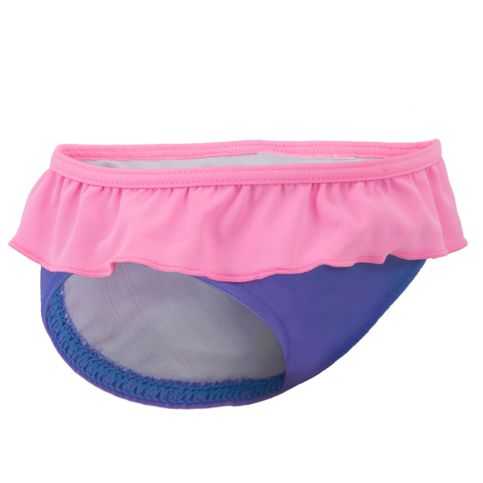 Nabaiji Zwembroekje voor meisjes met print roze en blauw