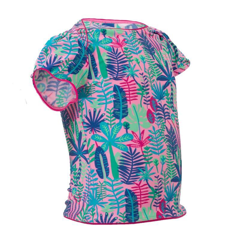 Haut de maillot de bain bébé fille tankini imprimé jungle
