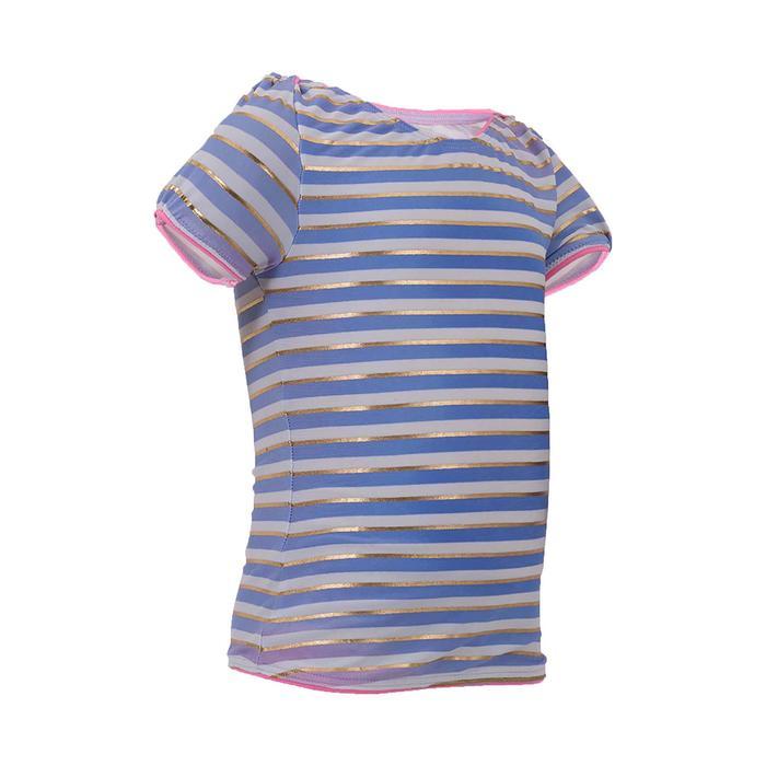 Bañador bebé niña top tankini de rayas azul, blanco y dorado