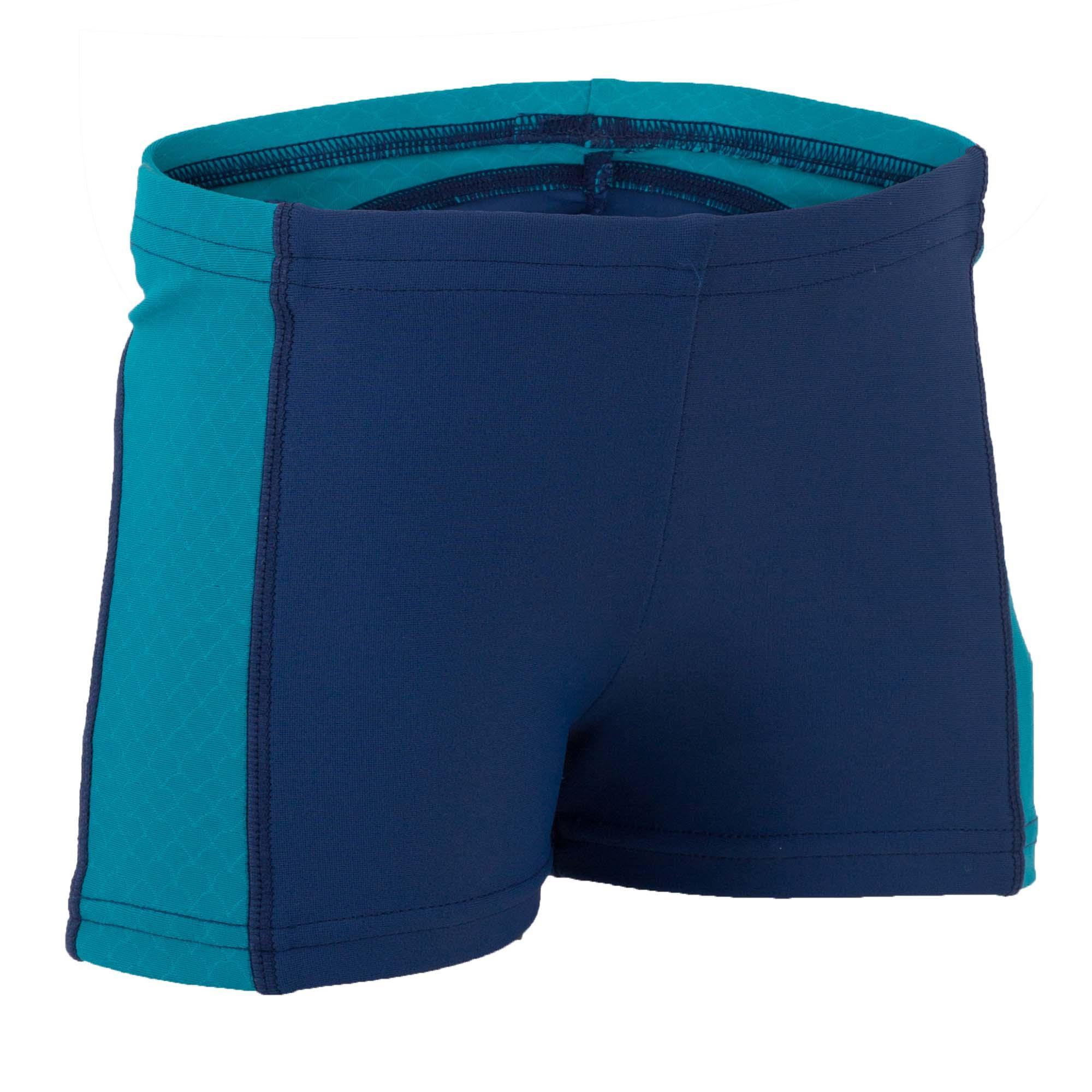 Bañador bebé niño bóxer azul con piezas laterales