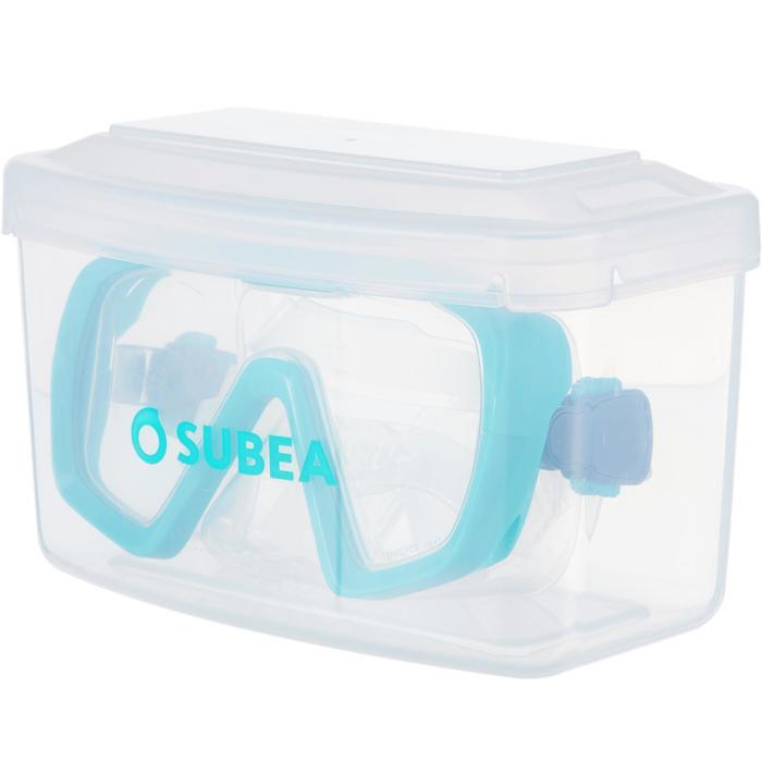Tauchmaske SCD 100 für Gerätetauchen türkis/transparent für Einsteiger