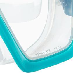Tauchmaske SCD 100 Dichtrand transparent und Umrandung türkis