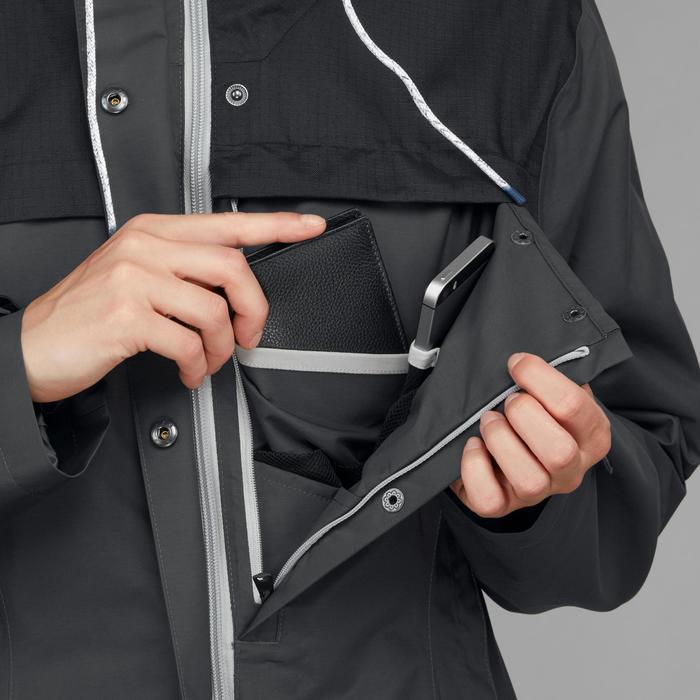 3-in-1 jas voor backpacken dames Travel 100 grijs