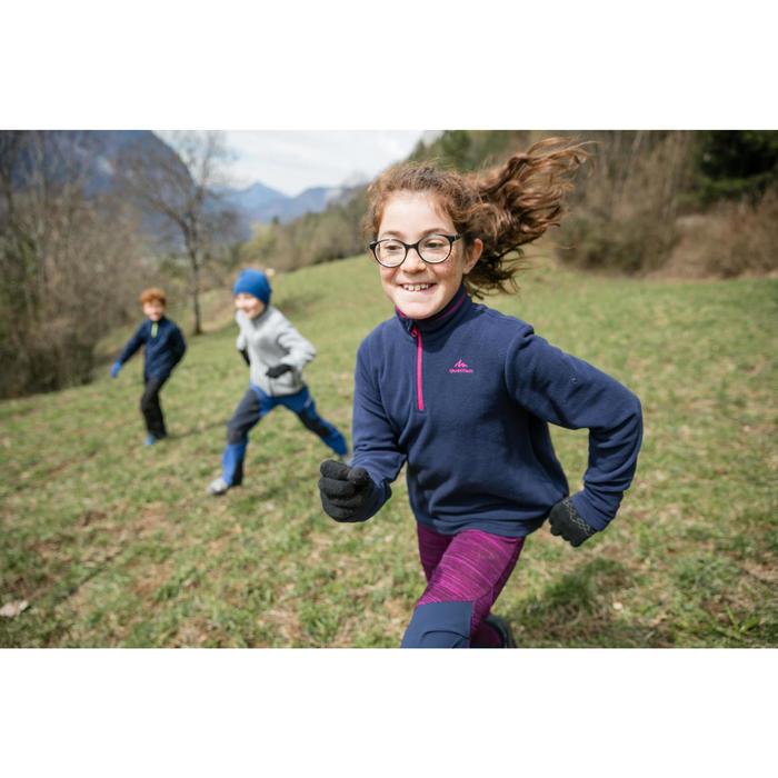 Polaire de randonnée enfant MH100 NAVY 7-15 ans