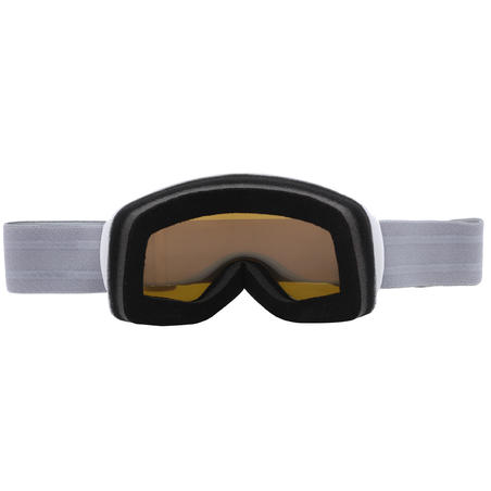 G 500 I ADULTS' AND KIDS ALL-WEATHER SKI AND SNOWBOARD MASK - WHITE ASIA