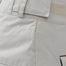 女款單/雙板滑雪長褲SNB PA 100 - 深藍綠色