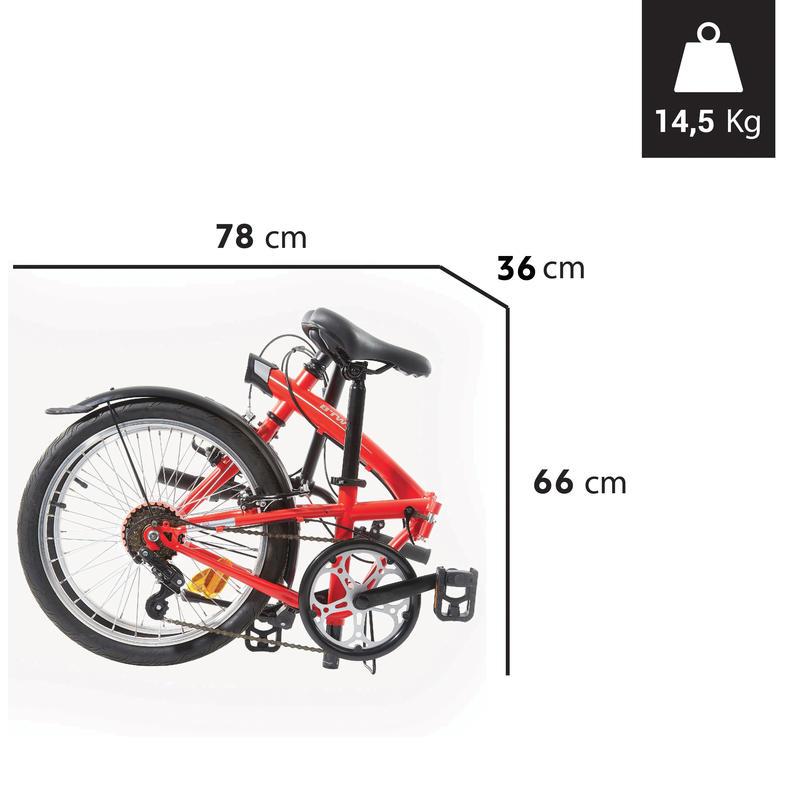 จักรยานพับได้รุ่น TILT 120 ขนาด 20 นิ้ว (สีแดง)