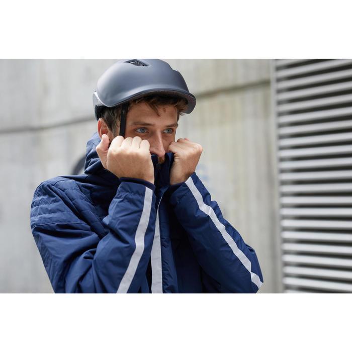 Fahrrad-Regenjacke City 900 Warm Herren marineblau