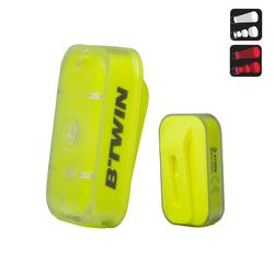 Led fietslampje voor/achter usb CL 500 geel