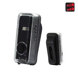LUZ TRASERA BICICLETA DE LED VIOO CLIP 100 USB NEGRA