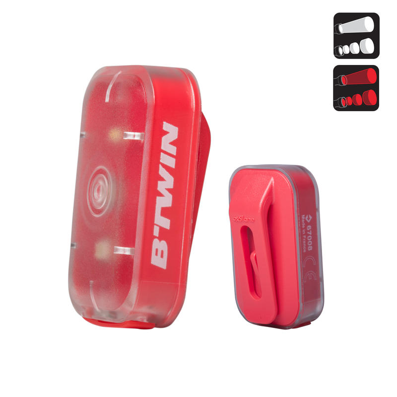 VIOO Clip 500 Front & Rear LED Bike Light Set USB - Pink