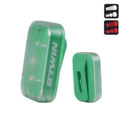 Zusatzbeleuchtung Front-/Rücklicht Vioo Clip 500 USB grün