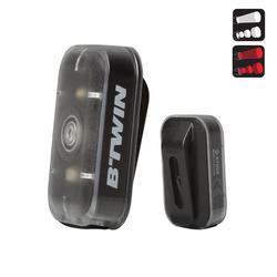VERLICHTINGSSET VOOR-/ACHTERLICHT VIOO CLIP 500 ZWART USB