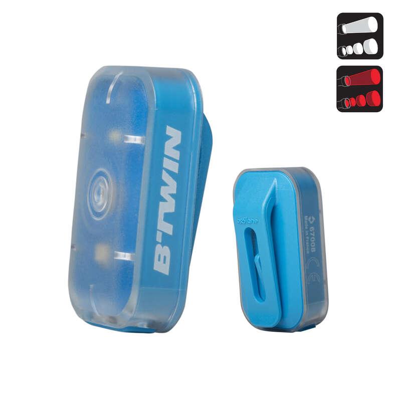 AYDINLATMALAR Bisiklet - VIOO CLIP 500 USB ÖN/ARKA BTWIN - Bisiklet Aksesuarları