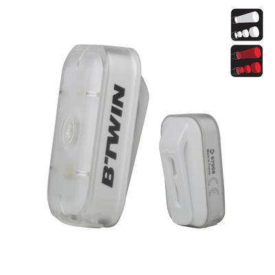 ECLAIRAGE VELO LED VIOO CLIP 500 AVANT ET ARRIERE BLANC USB