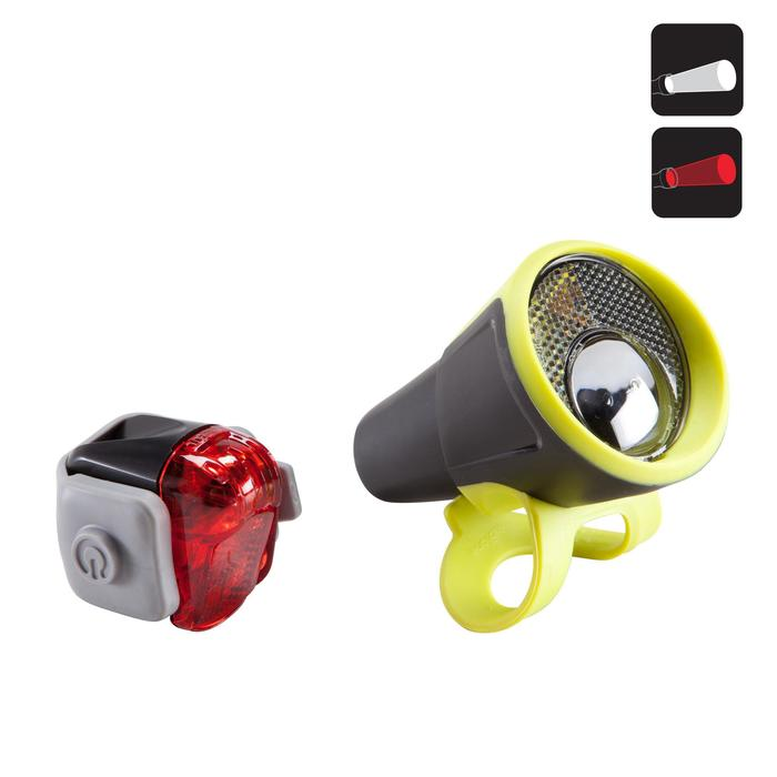 Led fietsverlichting voor-/achterlicht op batterijen Vioo 100 Road