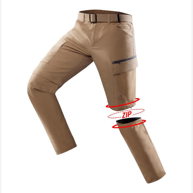bastante agradable b0198 513c8 Pantalón TRAVEL500 TRANSFORMABLE HOMBRE CAMEL