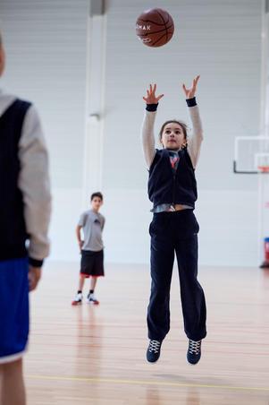 Pantalon basket P100 NAVY P100 débutant Garçons/Filles