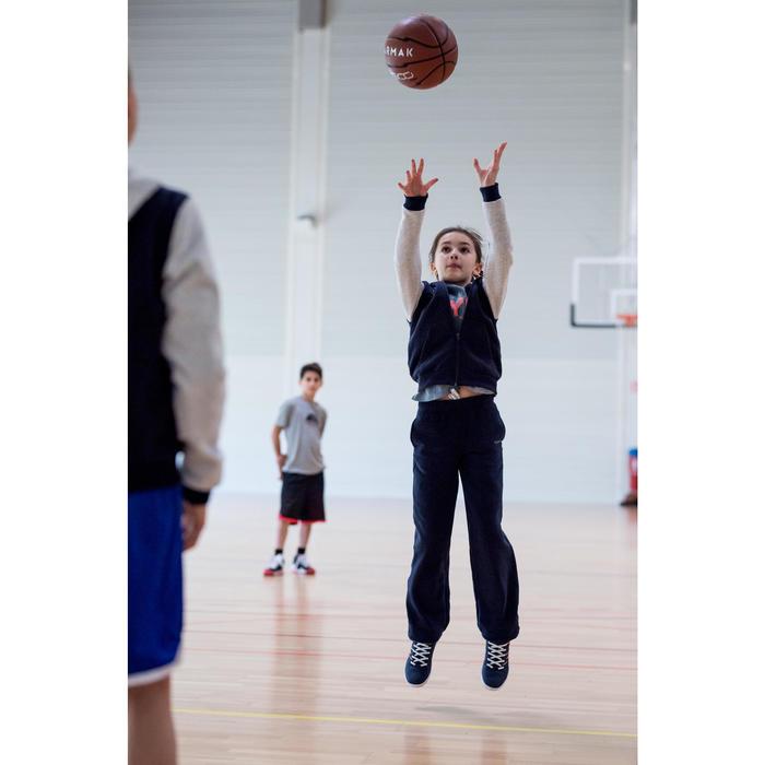 Basketbalbroek voor beginnende jongens/meisjes marineblauw P100