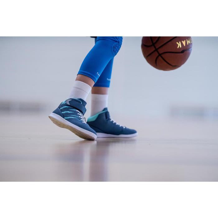 兒童款中筒籃球襪(中階球員)2雙入-白色